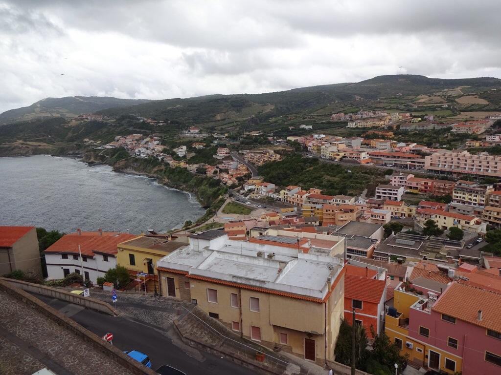 Utsikt mot söder från Castelsardo