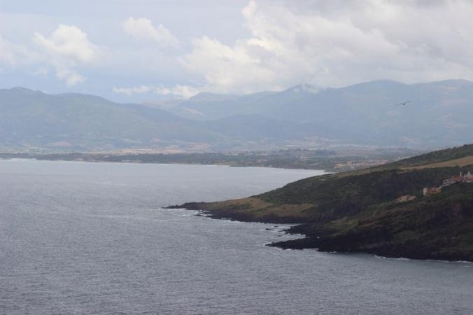 Utsikt mot öster från Castelsardo